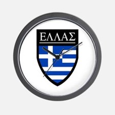 Greece (Greek) Patch Wall Clock