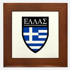 Greece (Greek) Patch Framed Tile