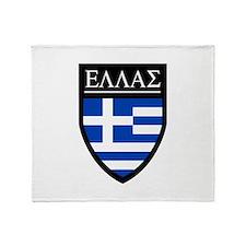 Greece (Greek) Patch Throw Blanket