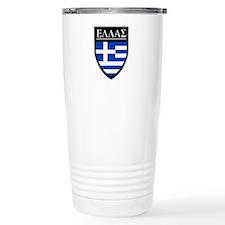 Greece (Greek) Patch Ceramic Travel Mug