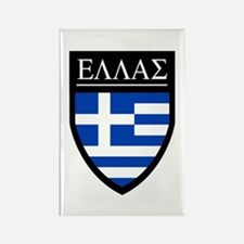Greece (Greek) Patch Rectangle Magnet