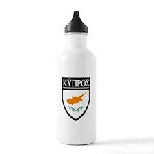 Cyprus Flag Patch (in Greek) Water Bottle