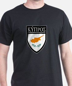 Cyprus Flag Patch (in Greek) T-Shirt