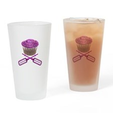 Cupcake and Crossbeaters Pint Glass