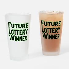 Future Lottery Winner Pint Glass