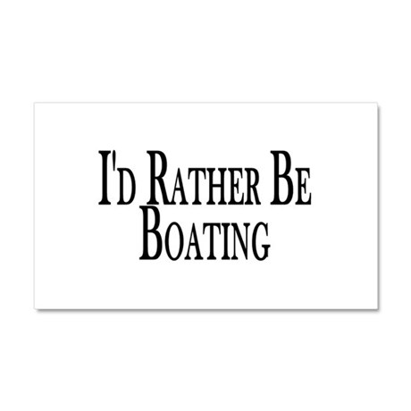 Rather Be Boating Car Magnet 12 x 20