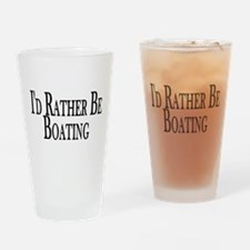 Rather Be Boating Pint Glass
