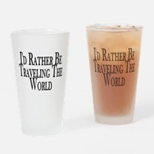 Rather Travel The World Pint Glass
