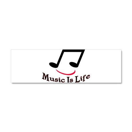 Music Is Life Car Magnet 10 x 3