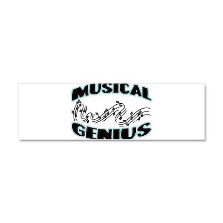 Musical Genius Car Magnet 10 x 3
