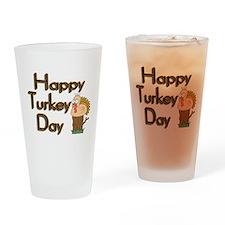 Happy Turkey Day Pint Glass