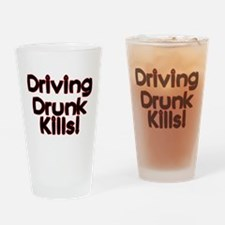 Driving Drunk Kills Pint Glass