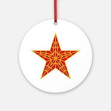 Red Kremlin Star Ornament (Round)