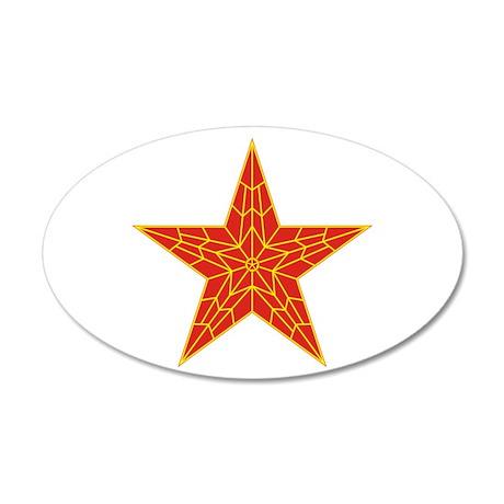 Red Kremlin Star 38.5 x 24.5 Oval Wall Peel