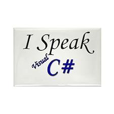 """I Speak Visual C#"" Rectangle Magnet (100 pack)"