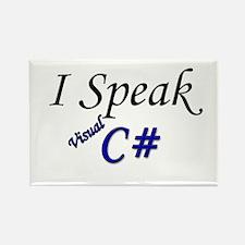 """""""I Speak Visual C#"""" Rectangle Magnet"""