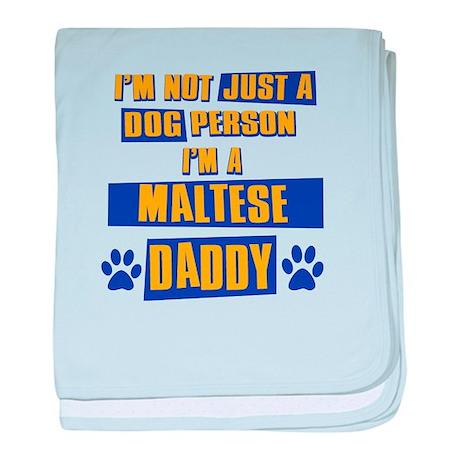 Maltese Daddy baby blanket