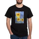 sunflowers on black t shirt
