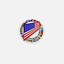 Circle of Flags Pro-Immigration Mini Button