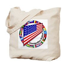 Circle of Flags Pro-Immigration Tote Bag