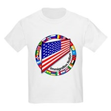 Circle of Flags Pro-Immigration Kids T-Shirt