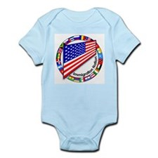 Circle of Flags Pro-Immigration Infant Creeper