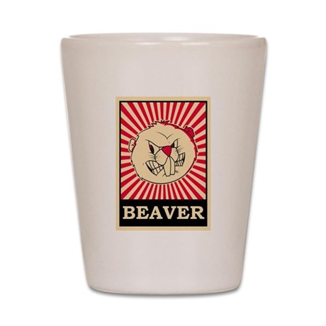 Pop Art Beaver Shot Glass