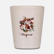 Butterfly Beaver Shot Glass