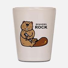 Beavers Rock Shot Glass
