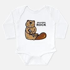 Beavers Rock Long Sleeve Infant Bodysuit