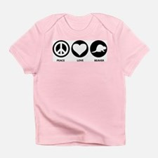 Peace Love Beaver Infant T-Shirt