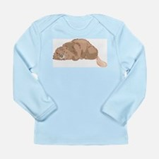 Cute Beaver Long Sleeve Infant T-Shirt