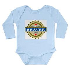 Certified Beaver Lover Long Sleeve Infant Bodysuit