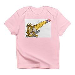 Beaver Sharpening Pencil Infant T-Shirt