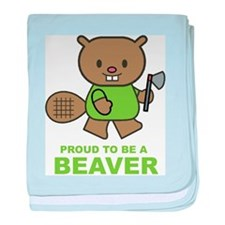 Proud To Be A Beaver baby blanket