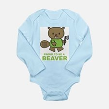 Proud To Be A Beaver Long Sleeve Infant Bodysuit