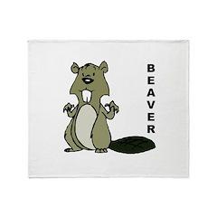Beaver Throw Blanket