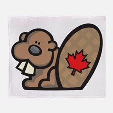 Canada + Beaver Throw Blanket