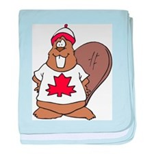 Canada Beaver baby blanket