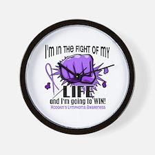 Fight Of My Life Hodgkin's Lymphoma Wall Clock