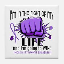 Fight Of My Life Hodgkin's Lymphoma Tile Coaster