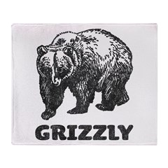 Vintage Grizzly Throw Blanket