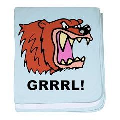 Bear Grrrl! baby blanket