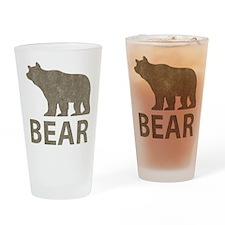 Vintage Bear Pint Glass