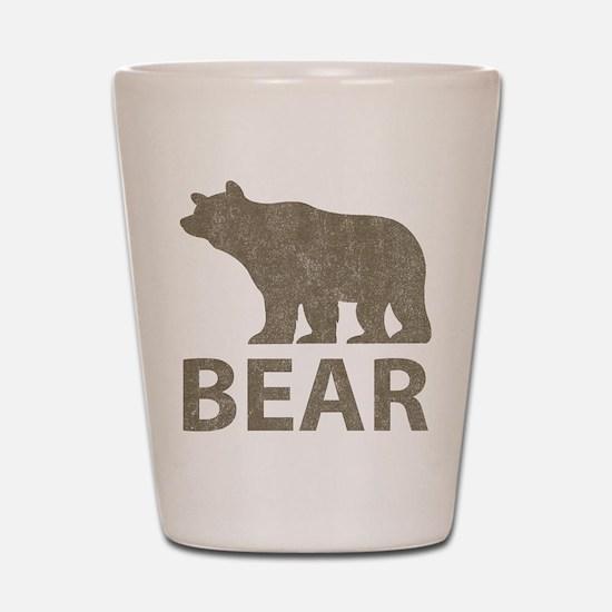 Vintage Bear Shot Glass