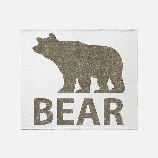 Vintage Bear Throw Blanket