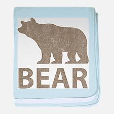 Vintage Bear baby blanket
