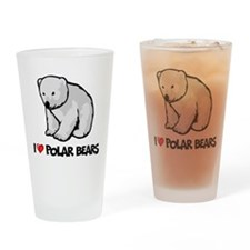 I Love Polar Bears Pint Glass