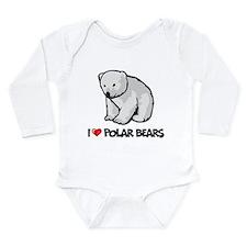 I Love Polar Bears Long Sleeve Infant Bodysuit