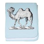 Camel Crest baby blanket